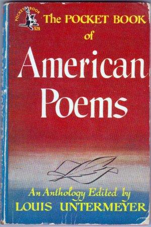 The Pocket Book of American Poems, Vintage Paperback, #529, Poetry