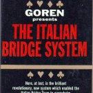 The Italian Bridge System, Goren, Vintage Paperback Book, Bantam #A-1953, Games
