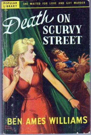 Death On Scurvy Street, B.A. Williams, Vintage Paperback Book, Popular Library #194, Mystery