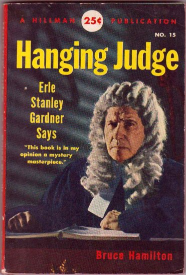 Hanging Judge, Bruce Hamilton, Vintage Paperback Book, Hillman #15, Mystery