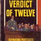 Verdict of Twelve, Raymond Postgate, Vintage Paperback, Pocket Books #331, Mystery