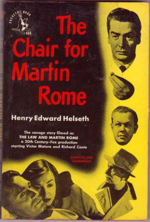 The Chair For Martin Rome, Helseth, Vintage Paperback, Pocket Books #484, Movie Tie-In