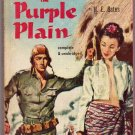 The Purple Plain, H.E. Bates, Vintage Paperback Book, Bantam #820, War, Romance