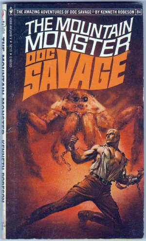 The Mountain Monster, Doc Savage, Kenneth Robeson, Vintage Paperback, Bantam, Adventure