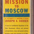 Mission To Moscow, Joseph E. Davies, Vintage Paperback, Pocket Book #203, War