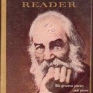 The Whitman Reader, Geismar, Vintage Paperback  Book, Cardinal #GC-25, Poetry