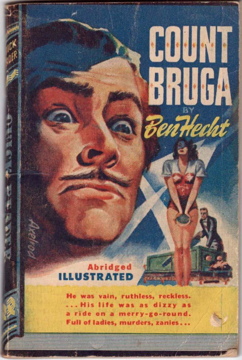Count Bruga, Ben Hecht, Vintage Paperback Book, Quick Reader #117,