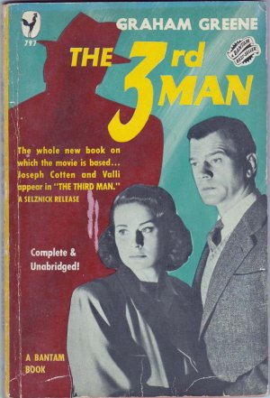 The 3rd Man, Graham Greene Vintage Paperback Book, Bantam #797, Mystery, Suspense