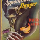 Appointment With Danger, David Garth, Vintage Paperback Book, Popular Library #136, Mystery
