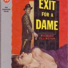 Exit For A Dame, Richard Ellington, Vintage Paperback, Pocket Book #941, Mystery