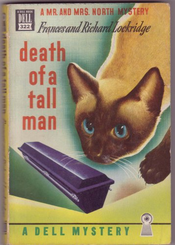 Death Of A Tall Man, Lockridge, Vintage Paperback Book, Dell Map Back #322, Mystery