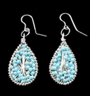 Silver Blue Earrings