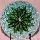 GM214, ANTIQUE GERMAN MAJOLICA PLATE Lily of the Valley