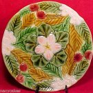BEAUTIFUL VINTAGE FRENCH MAJOLICA CHERRY PLATE, fm469