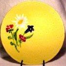 ANTIQUE YELLOW GERMAN FLOWER MAJOLICA PLATTER, gm297