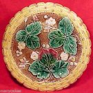 antique majolica strawberry comport rare  c1800-1891, gm370