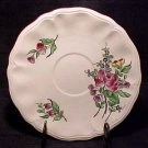 ANTIQUE FRENCH LUNEVILLE FAIENCE ROSES SAUCER, ff113