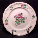 FF111 ANTIQUE FRENCH LUNEVILLE FAIENCE ROSES SALAD PLATE