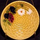 GM124,VINTAGE GERMAN MAJOLICA FLOWER BOWL SMF