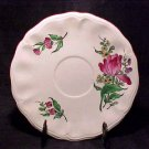 FF114 ANTIQUE FRENCH LUNEVILLE FAIENCE TULIP SAUCER