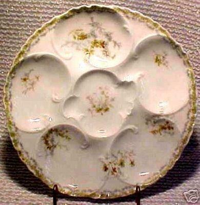 ANTIQUE HAVILAND LIMOGES OYSTER PLATE c.1888-1896, op54