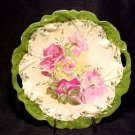 BEAUTIFUL GERMAN ROSES PIERCED HANDLE PLATTER, gp6