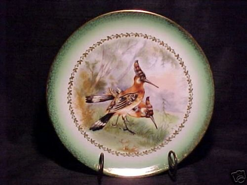 BEAUTIFUL IMPERIAL GERMANY EXOTIC GAME BIRD PLATE, gp5