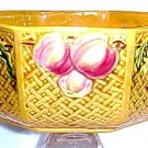 ANTIQUE GERMAN ZELL MAJOLICA POTTERY 8 SIDE BOWL c.1907, gm248
