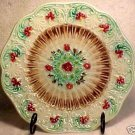 ANTIQUE FRENCH SARREGUEMINES MAJOLICA POTTERY PLATE, pc11