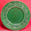 ANTIQUE FRENCH GIEN MAJOLICA POTTERY PLATE LEAVES c.1875, fm379