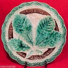 ANTIQUE GERMAN MAJOLICA POTTERY CHESTNUT PLATE c.1828-80, gm387