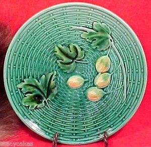 BEAUTIFUL ANTIQUE GERMAN MAJOLICA  POTTERY PLATE c.1907-1928, gm448