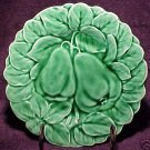 FRENCH SARREGUEMINES MAJOLICA POTTERY PEARS & LEAVES PLATE, fm282