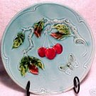 ANTIQUE GERMAN MAJOLICA POTTERY PLATE ZELL c.1930, gm238