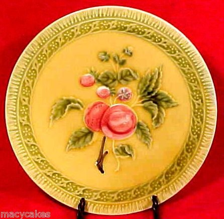 ANTIQUE GERMAN MAJOLICA pottery PLATE ZELL c.1928-1940, gm382