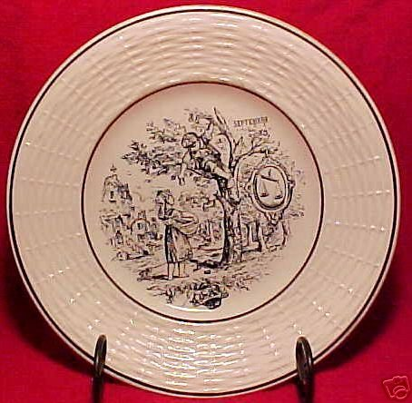 ANTIQUE FRENCH SARREGUEMINES MAJOLICA POTTERY PLATE, fm455
