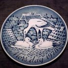 VINTAGE CONTINENTAL PORCELAIN MOTHER'S DAY PLATE STORK FAMILY, p3