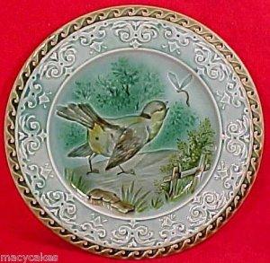 ANTIQUE SARREGUEMINES MAJOLICA POTTERY PLATE c.1790-1830, gm611