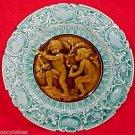 Antique Majolica Pottery Plate Villeroy & Boch c.1882-1895 Blue, gm595