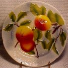 FRENCH ST. CLEMENT MAJOLICA POTTERY APPLE PLATE, fm442