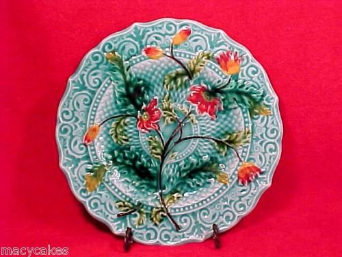 ANTIQUE VILLEROY & BOCH  MAJOLICA Pottery PLATE c.1890's, pc19