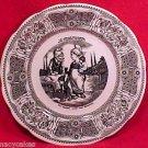 FM531, VINTAGE GIEN MAJOLICA FAIENCE Pottery VIGNETTES PLATE