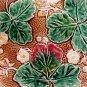 antique majolica strawberry comport rare  c1800-1891, gm370