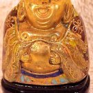 Beautiful Vintage Brass and Enamel Cloisonne Laughing Buddha, c16