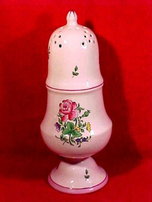 Vintage Luneville K&G Muffineer Sugar Cheese Shaker Majolica Faience, lun56
