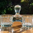 Antique French Victorian Crystal Double Salts, gl52