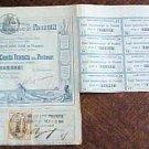 Panama Canal Stock Certificate 1880 Ferdinand de Lessep