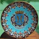 Huge Longwy Enameled Cloisonne Majolica Wall Plaque, fm702