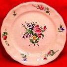 Antique Vintage Luneville Faience Tulip Bread & Butter Plate c.1920, LUN64