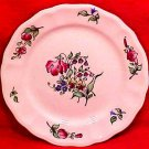 Antique Vintage Luneville Faience Tulip Bread & Butter Plate c.1920, LUN68